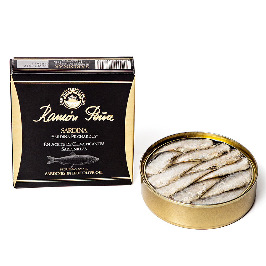 Sardines in spicy olive oil